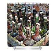 Old Beer Bottles Shower Curtain