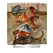 Old Bells To Pasture Shower Curtain