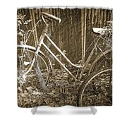 Old Bikes Shower Curtain