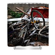 Old Bikes - Series I Shower Curtain