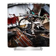 Old Bikes - Series IIi Shower Curtain