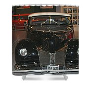 Old Black And White Hardtop Shower Curtain