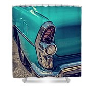 Old Blue Car Shower Curtain