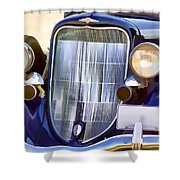 Old Blue Car Shower Curtain