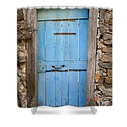 Old Blue Door Shower Curtain
