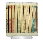 Old Books Shower Curtain