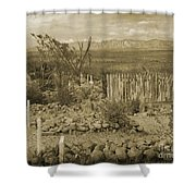 Old Boothill Cemetery Shower Curtain