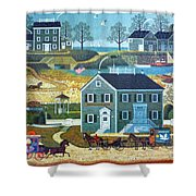 Old Boston Puzzle Shower Curtain