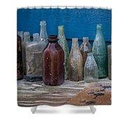 Old Bottles Shower Curtain