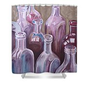 Old Bottles Shower Curtain by Kathy Weidner