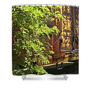 Old Boxcar Dying Slowly Shower Curtain