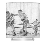 Old Boxing Old Time Shower Curtain