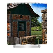 Old Brick Shed Shower Curtain