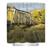 Old Bridge At La Boca Shower Curtain