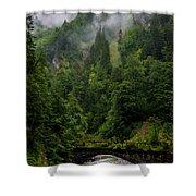 Old Bridge - Austrian Alps - Austria Shower Curtain