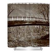 Old Bridge In Autumn Shower Curtain