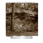 Old Bridge In Summer Shower Curtain