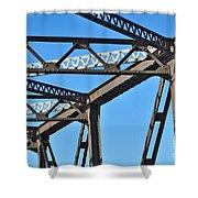 Old Bridge Structure Shower Curtain
