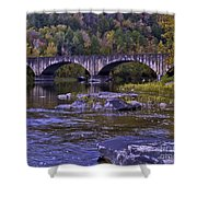 Old Bridge Two Shower Curtain