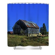 Old Broken Down Barn In Ohio Shower Curtain
