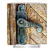 Old Bronze Church Door Handle Shower Curtain