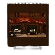 Old Brooklyn Garage Shower Curtain