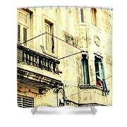Old Building Facade Shower Curtain
