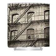 Old Building II. Shower Curtain