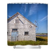 Old Building In North Rustico Shower Curtain