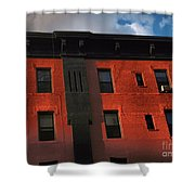 Brownstone 1 - Old Buildings And Architecture Of New York City Shower Curtain