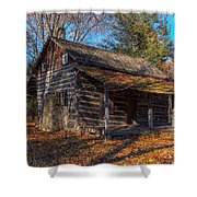 Old Cabin In The Woods Shower Curtain