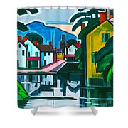 Old Canal Port Shower Curtain