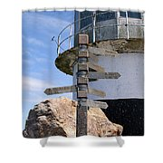 Old Cape Point Lighthouse In South Africa Shower Curtain