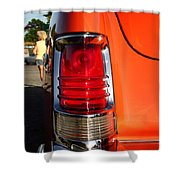 Old Car Tail Light Shower Curtain