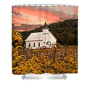 Old Carmel Ohio Church Shower Curtain