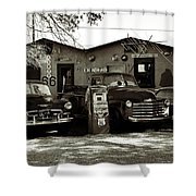 Old Cars On Route 66 Shower Curtain