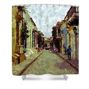 Old Cartagena 1 Shower Curtain