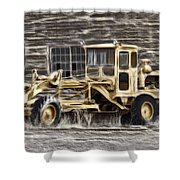 Old Cat Grader Shower Curtain