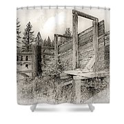 Old Cattle Ramp Shower Curtain