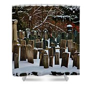 Old Cemetery Lancaster Ma Shower Curtain
