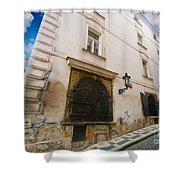 Old Charming Street In Prague Shower Curtain