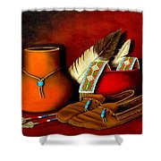 Old Cherokee Moccasins Shower Curtain