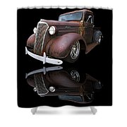Old Chevy Shower Curtain by Debra and Dave Vanderlaan