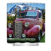 Old Chevy Pickup Ca5073-14 Shower Curtain
