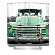 Old Chevy Pickup Truck Shower Curtain