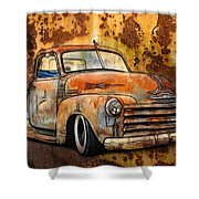 Old Chevy Rust Shower Curtain