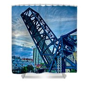 Old Chicago Draw Bridge Shower Curtain