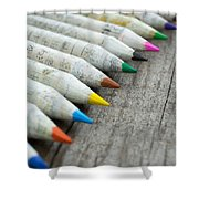 Old Chinese Pencil Shower Curtain