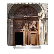 Old Church Door Cathedral Autun Shower Curtain