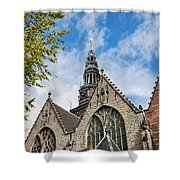 Old Church In Amsterdam Shower Curtain